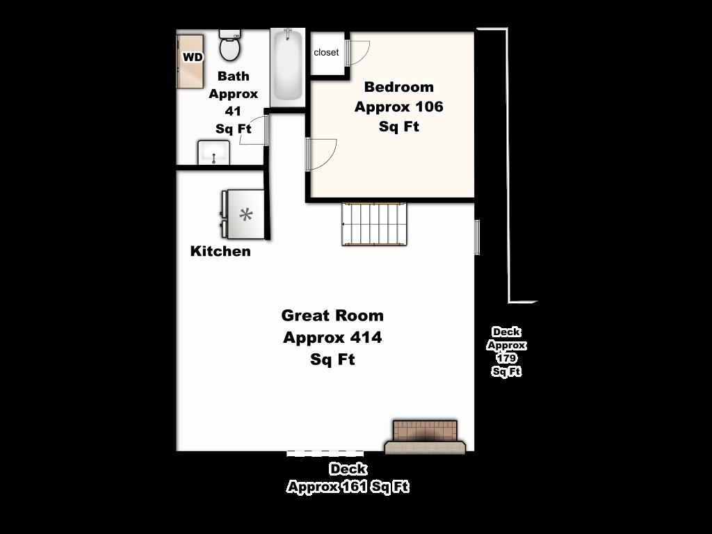 A-Frame Of Mind Main Floor Floorplan