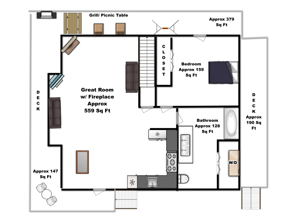Bear Tracks Main Floor Plan
