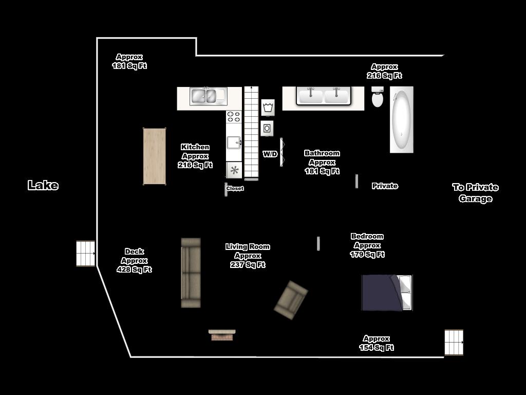 Eva 39 s lakeside main floor floorplan for Lakeside floor plan
